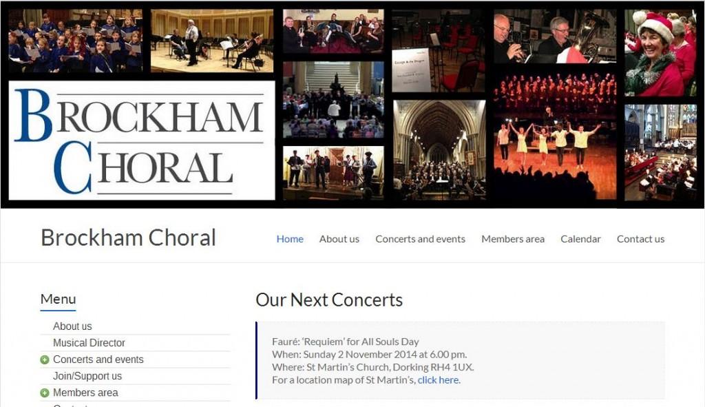 Brockham Choral website