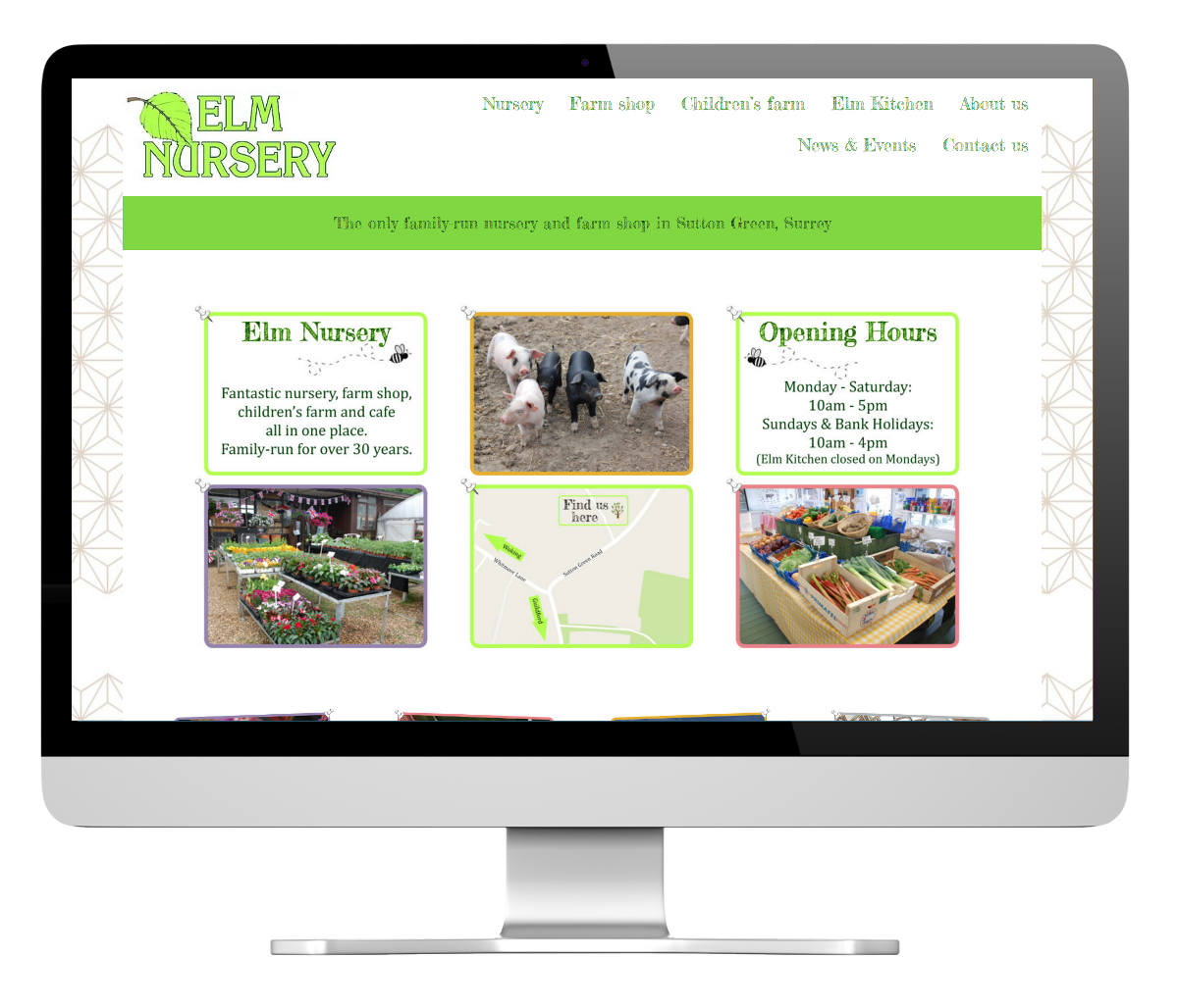 Elm Nursery website