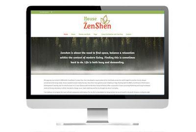 House of Zenshen branding and website design screenshot