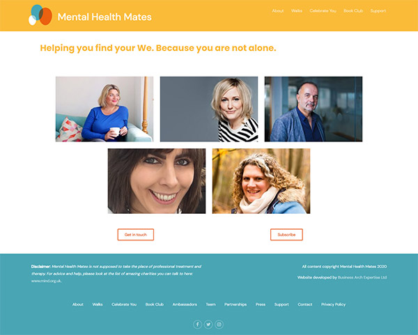 Mental Health Mates team page