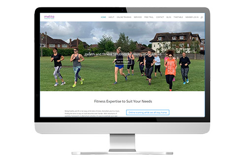 Ongoing website management: Melita Fitness
