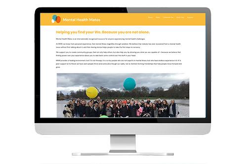 website redesign: Mental Health Mates screenshot
