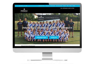 Web design in Guildford: Pinnacle Sports screenshot