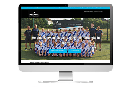 Web design in Guildford: Pinnacle Sports screenshot