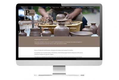 West Street Potters E-commerce web design site