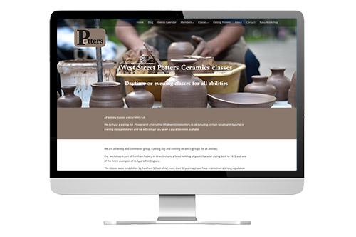West Street Potters E-commerce web design site
