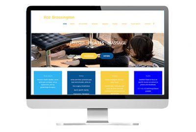 web design and training to build Roz Physio site